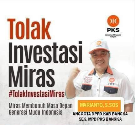 Anggota DPRD Bangka Beri Tanggapan Menohok Soal Legalnya Investasi Miras